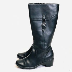 Clark's Women's Tall Black Leather Boots size 9